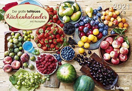 teNeues Küchenkalender 2021 - Wand-Kalender - Broschüren-Kalender - 42x29 - 42x58 göffnet - Küchen-Kalender - Rezepte
