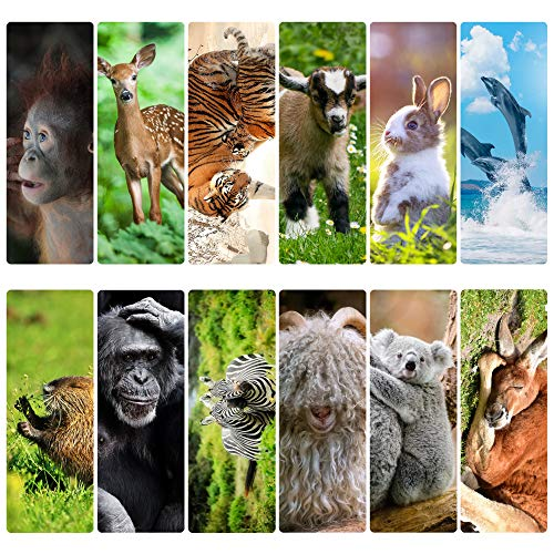 Livin Harmony || Awesome Cute Animal Bookmarks || Great Book Marker Gift for Men, Boys, Girls, Kids, Teens, Women, and Everyone! (Animals)