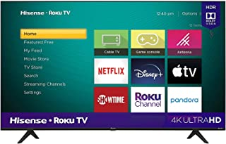 Hisense 50 Inch TV 4K UHD Smart TV, With Dolby Vision HDR, DTS Virtual X, YouTube, Netflix, Freeview Play & Alexa Built-i...