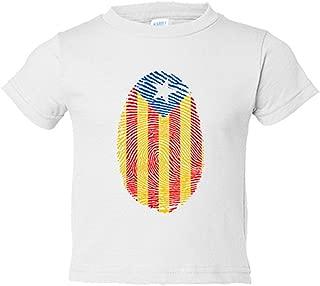 Camiseta niño Emprenta ADN senyera Catalunya Independent Independència - Blanco, 9-11 años
