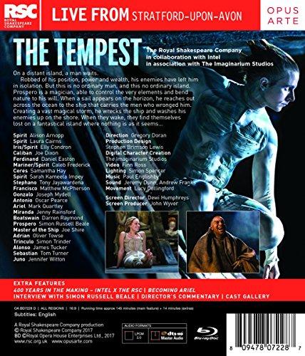 William Shakespeare: The Tempest [Simon Russell Beale; Joe Dixon; Mark Quartley; Jenny Rainsford; Simon Trinder; Tony Jayawardena; Oscar Pearce; ] [Opus Arte: OABD7228D] [Blu-ray] [2017] [Region Free]