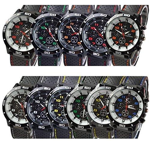 GT 54 grand touring Reloj de Sport banda de silicona de Anal