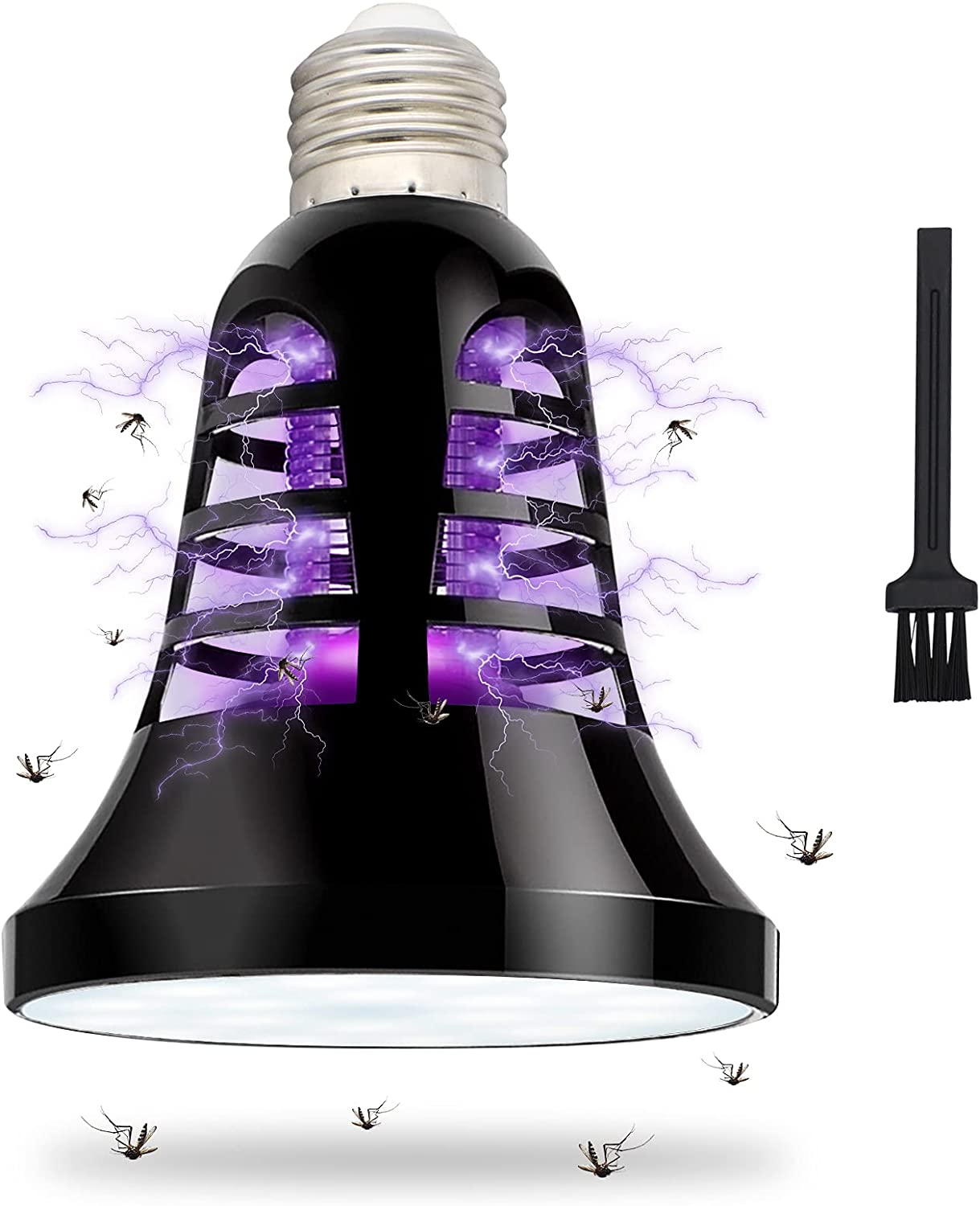 COZYLIFE Bug Zapper Light Bulb,2-in-1 UV Mosquito Killer Lamp Indoor LED Light Suitable for E26/E27 Light Bulb Socket,Electric Fly Insect Trap Chemical-Free for Home Kitchen Backyard Patio