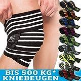 C.P.Sports Profi-Kniebandagen 200cm - 250cm T25 - Kraftsport, Bodybuilding, Powerlifting, Männer,...