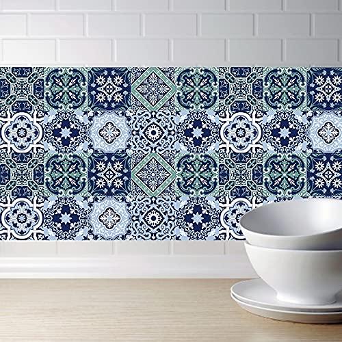 PMSMT Azulejos Retro Pegatinas de Pared para baño Cocina Azulejos Pegatinas decoración Pegatina Impermeable dwaterproof PVC Pegatinas de Pared Cocina Cintura línea