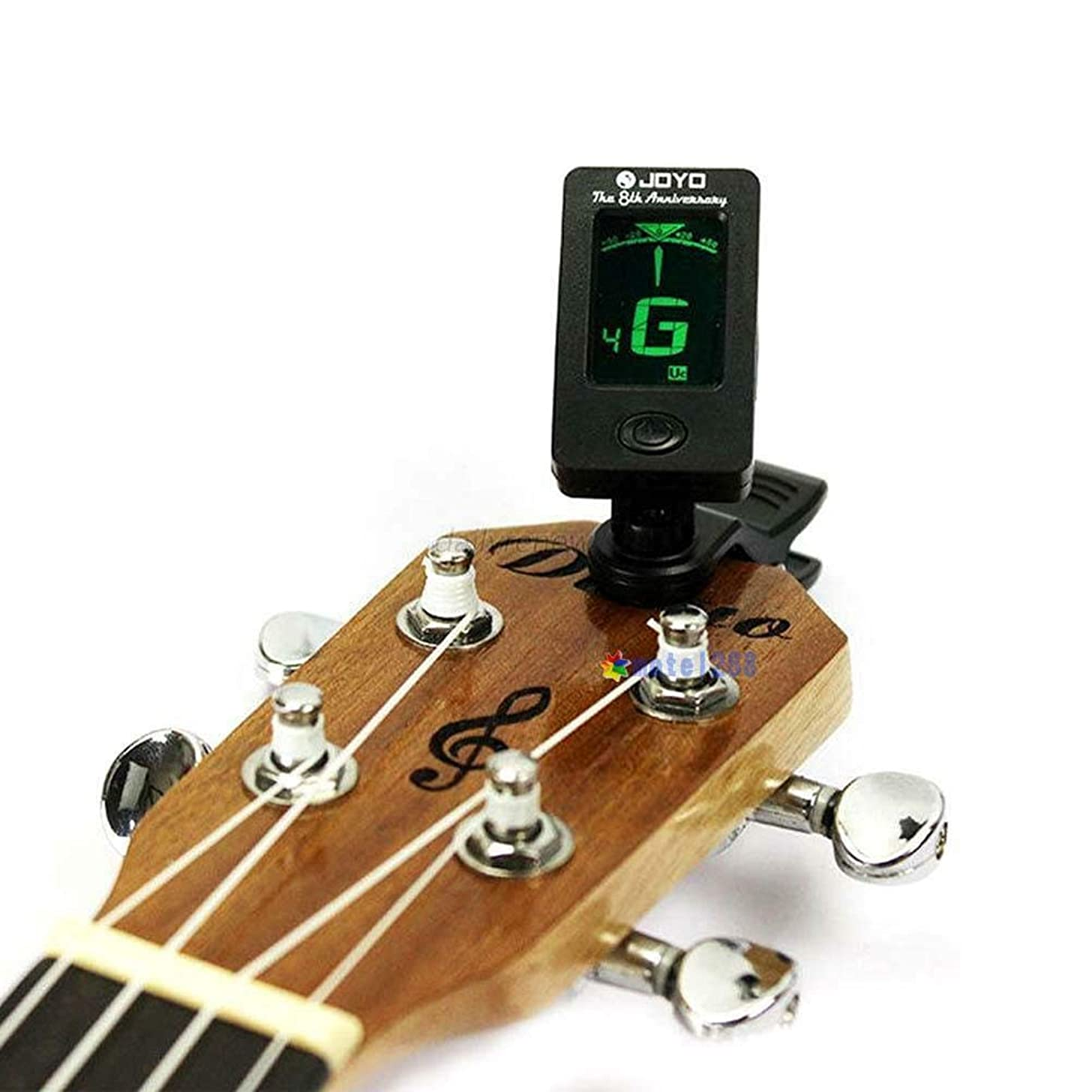 FidgetGear Clip-on LCD Digital Chromatic Electronic Guitar Tuner Violin Ukulele D15 GH