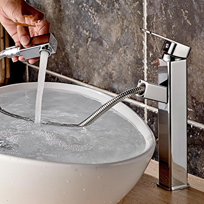 Bijjaladeva Wasserhahn Bad Wasserfall Mischbatterie Waschbecken WaschtischDie Wasserhhne Voll Kupfer Doppelloch hei und Kalt gezogen-Unten-Rund 1,80 Silber Plus Hohe