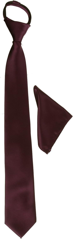 Men's Micro Fiber Satin Neck Tie and Pocket Square Combo
