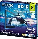 TDK BD‐R 1回録画用 BRV25PWB5A 5枚
