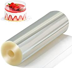 Amytalk Cake Collars 6.3 x 394inch, Acetate Rolls, Clear Cake Strips, Transparent Cake Rolls, Mousse Cake Acetate Sheets f...