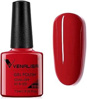 VENALISA Gel Nail Polish - Red Color Soak Off UV LED Nail Gel Polish Nail Art Starter Manicure Salon DIY at Home