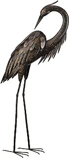 Regal Art &Gift Preening Bronze Heron Standing Art, 43-Inch