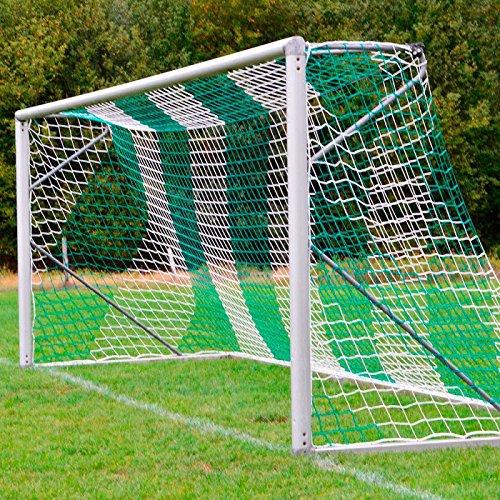 Donet Jugend - Fußballtornetz 5,15 x 2,05 m Tiefe oben 1,00/unten 1,00 m, zweifarbig, PP 4 mm ø, grün/weiß