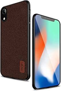 iPhone xr Case, Anti-Scratch and Shock-Absorbing Fabric Covers with Silicone Soft Edges and Great Grip, Fully-Protective and Compatible with Apple iPhone xr(Brown)