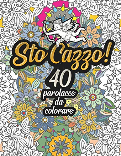 Sto Cazzo! 40 Parolacce da Colorare: Libro Insulti da colorare per Adulti - Mandala, Floreale, Geometria / Calma la tua rabbia.