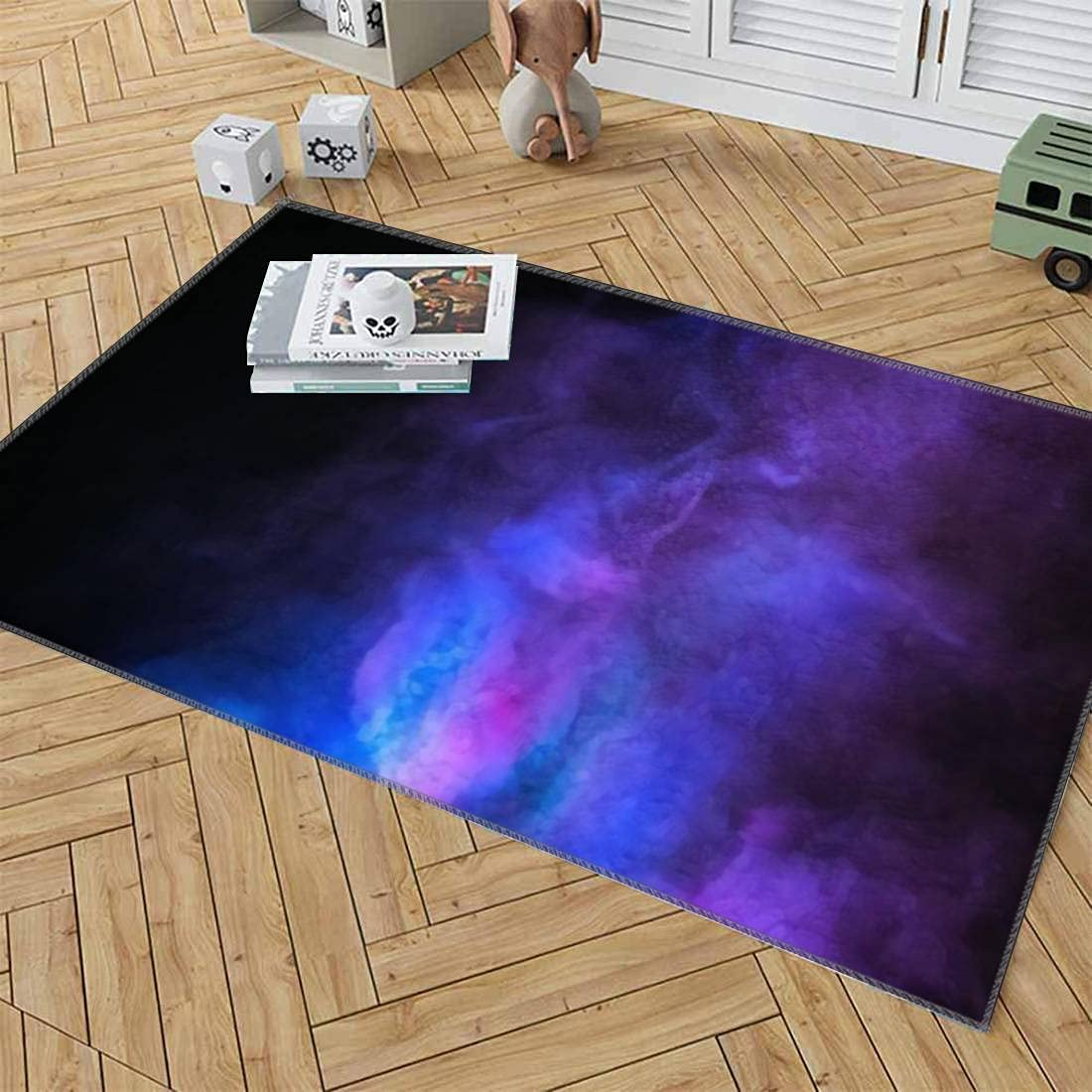 Area Rugs Multicolor powder explosion Brand new Colore black background on Max 87% OFF