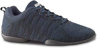 Anna Kern Hombres Zapatos de Baile/Dance Sneakers 4030 Bold - Azul/Negro - Suela de Sneaker