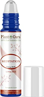 Meditation Essential Oil Blend Roll On 10 ml Pre-diluted with Fractionated Coconut Oil Therapeutic Grade. Great for Ground...