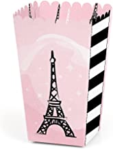 Paris, Ooh La La - Paris Themed Baby Shower or Birthday Party Favor Popcorn Treat Boxes - Set of 12
