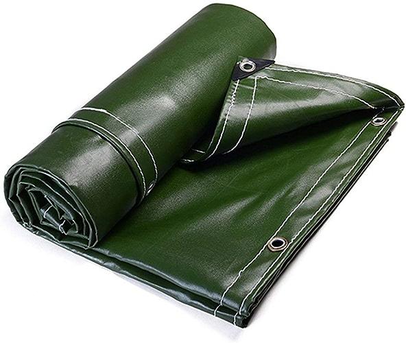 YHDD épaissie Toile Toile Toile Toile Bache Bache Trois Anti-Drap Poncho Ombre Résistant à l'usure Tissu Vert Bon Shopping