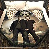 Qikafan Supernatural Flannel Warm Soft Plush on The Sofa Bed Blanket Suitable for Air Conditioning Blanket Nap Blanket (C,100x150cm (40x60in))