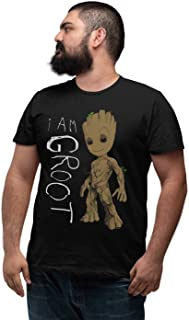 Marvel Men's Guardians of The Galaxy I Am Groot Scribbles Big and Tall T-Shirt
