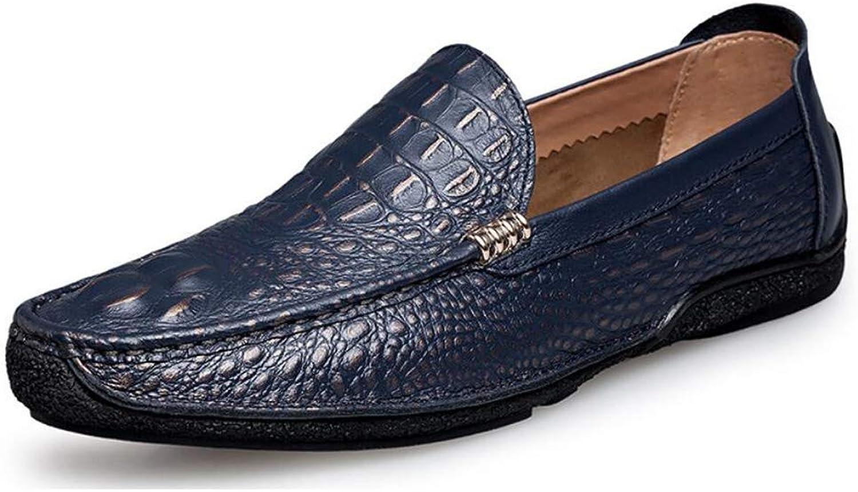 FuweiEncore herrar skor läder Springaa  Autumn Comfort Formal Formal Formal skor  Loafers Flat Slip On  Lazy skor  Driving skor Daily  Office   Business Färg (On, Storlek  UK 6.5)  wholesape billig