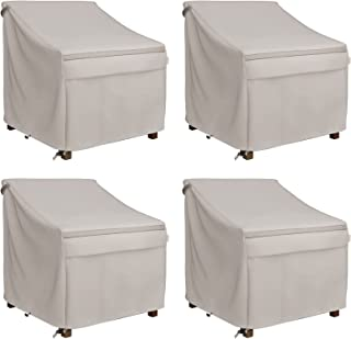 MR. COVER Waterproof Patio Chair Covers for Outdoor Furniture, 32W x 37D x 36H Inches, Heavier Materials, Neutral Color, A...