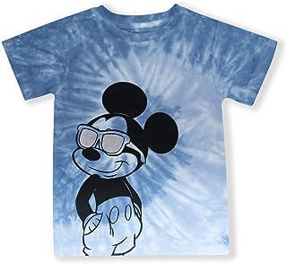 قمصان ديزني ميكي ماوس للأولاد الصغار، ملابس مصبوغة للأطفال ميكي ماوس