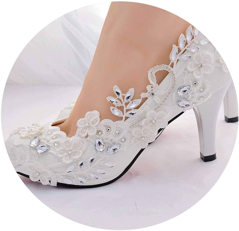 Crystal White High Heels shoes womandiamond Princess Ball Tacon women