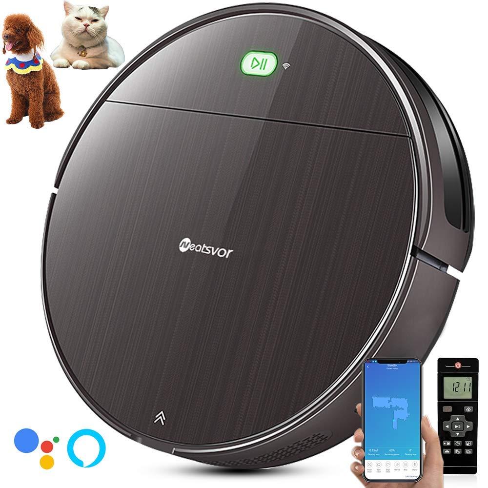 NEATSVOR V392 Robot Aspirador y fregasuelos 4 en 1,Navegación Inteligente Mapeo,para Suelos Duros y alfombras,Succión Potente 1800 Pa (Marrón): Amazon.es: Hogar