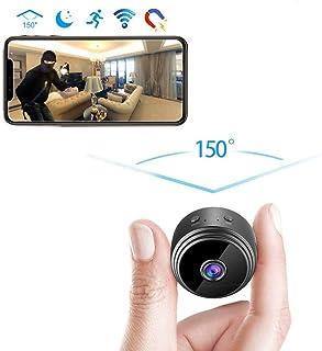 Cámara inalámbrica oculta espía mini cámara HD 1080P de seguridad portátil Inicio pequeñas cámaras de interior al aire libre Grabadora de vídeo activada movimiento de visión nocturna [2020 Versión]