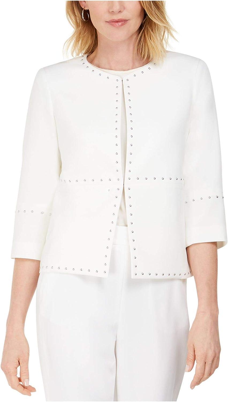 Kasper Womens Studded Suit Separate Jacket