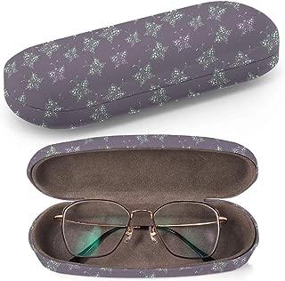 Trendy Pink Leopard Print Hardcase Brillenetui Sonnenbrillenetui Brillenbox Kunststof Clamshell-Art-Brillen-Fall mit Brille-Reinigungstuch