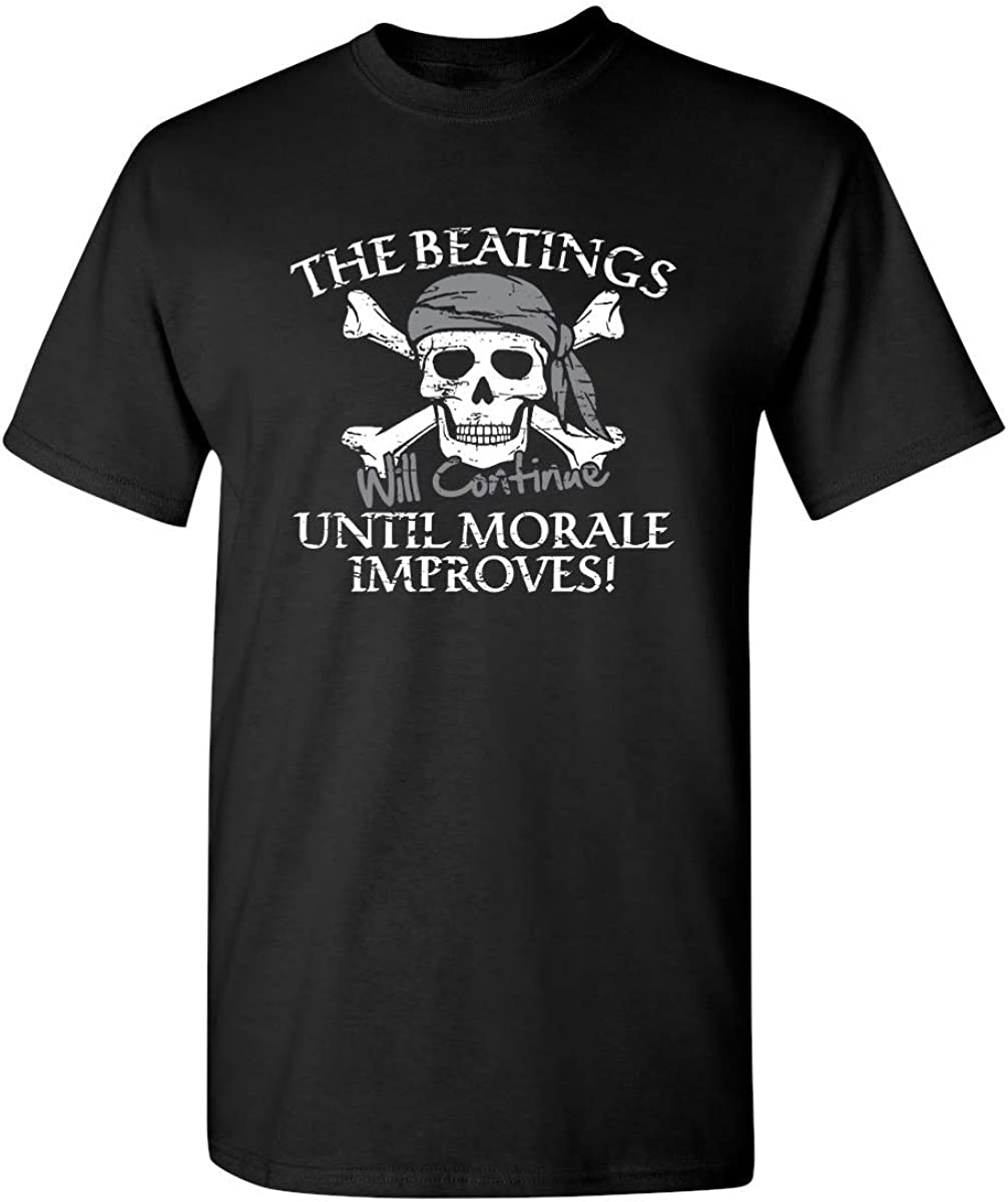 The Beatings Will Continue Until Moral Improves Novelty T-Shirt