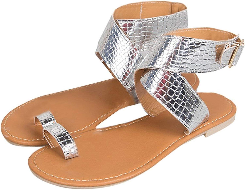 Women Cross Belt Rome Strappy Gladiator Low Flat Flip Flops Beach Sandals shoes