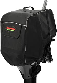 SEAMAX Universal Outboard Motor Cowling Cover with 3-Layers Welded Sunlitec Fabric, Reflective Edges, and Carrying Handles