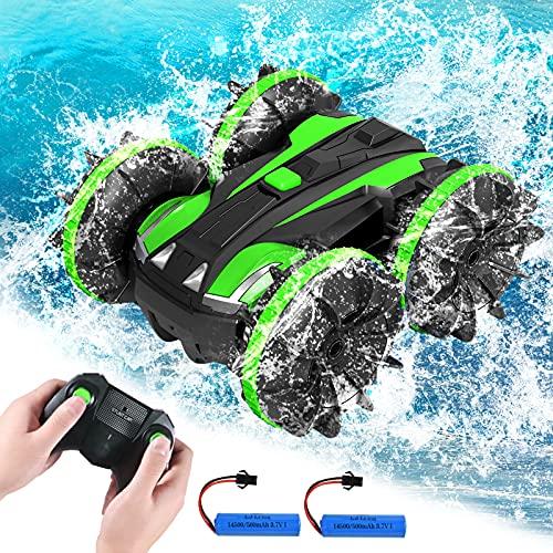 Coche teledirigido 4 WD resistente al agua Stunt Offroad, mando a distancia...