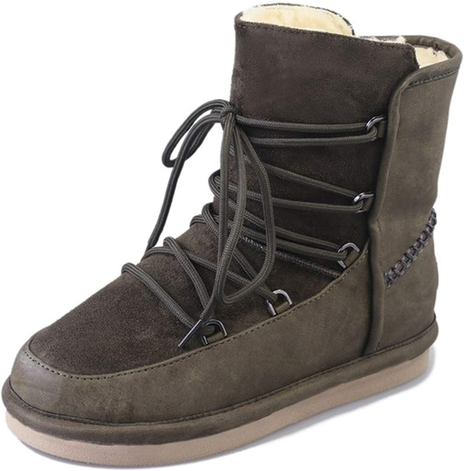 colorful Dream- Women's Winter Boots Genuine Leather Warm Wool Waterproof Ladies Boot Snow Boots Women Waterproof shoes Fashion Woman Boot