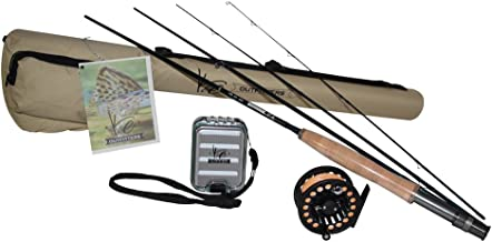 K&E Outfitters Drift Series 3wt Fly Fishing Rod and Reel Combo Package