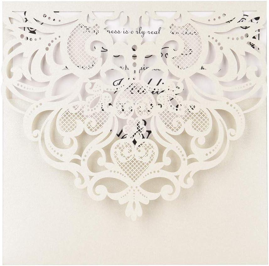 Ranking TOP9 Laser Cut Invitations 50 Wedding Pack Invitatio 25% OFF FOMTOR