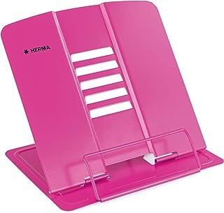 HERMA 19964 metalowy stojak na książkę (19,8 x 22,2 x 3,3 cm po złożeniu), 5 stopni regulacji, antypoślizgowy, stojak na k...