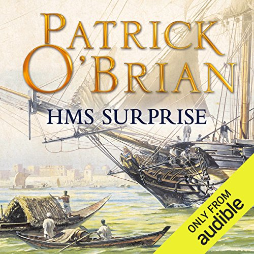 H.M.S. Surprise     Aubrey-Maturin Series, Book 3              By:                                                                                                                                 Patrick O'Brian                               Narrated by:                                                                                                                                 Ric Jerrom                      Length: 15 hrs and 1 min     512 ratings     Overall 4.7