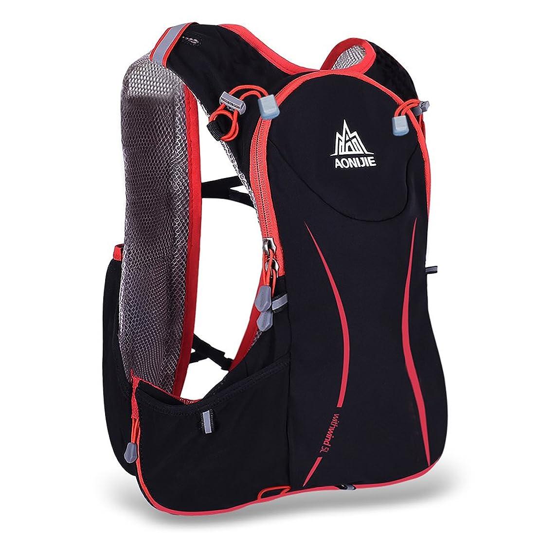 グリット圧倒的十分にDocooler ?AONIJIE 5L ハイドレーションバッグ ランニングベストバッグ 超軽量 1.5Lウォーターバッグ サイクリング ハイキング用