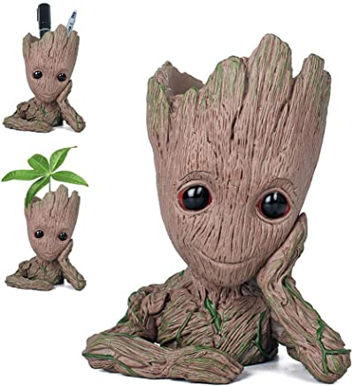 New Version Flowerpot Baby Action Figures Cute Model Toy Pen Pot Best Christmas Gifts For Kids (single hand)