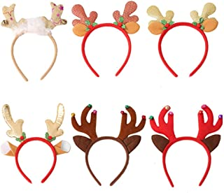 KESYOO 1 Set Christmas Reindeer Antlers Headband Fawn Horn Hair Band Hats for Kids Adults Random Style