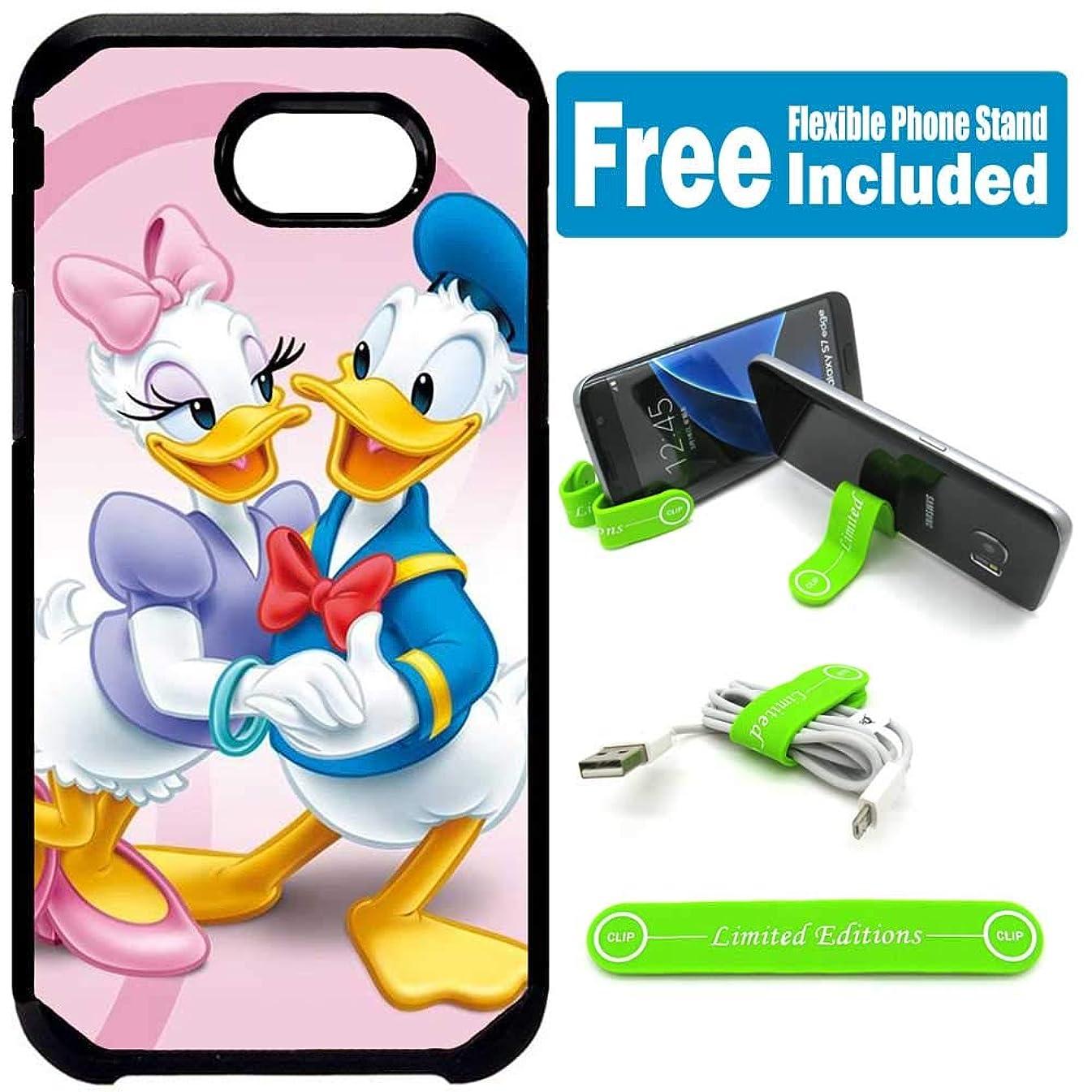 for Samsung Galaxy [J7 Prime] [J7 2017] [J7 Sky Pro] [J7 Perx] [J7 V] Defender Rugged Hard Cover Case - Donald Duck Couple Pink