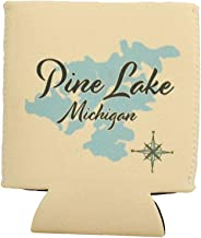 Stoco Lake in ONTARIO, CN (1654 LS) - Can Cooler Set of 6 - Nautical chart and topographic depth map.