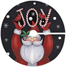 Christmas Gnome Santa Claus Joy Tree Skirt, Seasonal Tree Mat Holiday Party Supplies Ornaments Indoor Outdoor Decorations ...