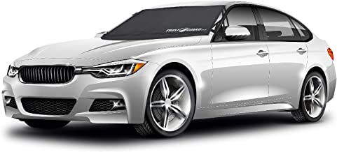 Frostguard Pro | Premium Winter Windshield Cover for Ice and Snow with Wiper Blade Cover | Standard Size Car Windshield Cover, Black | Fits Most Cars, Sedans, Small Trucks and SUVs – 61 x 41 Inches